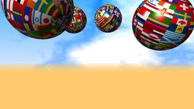 Flag Globes stock footage