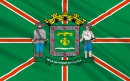 Flag of Goiania in Goias, Brazil stock photos