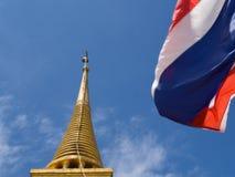 Flag. At Golden Temple Bangkok Thailand Royalty Free Stock Photos