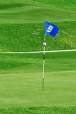 Flag on golf course Stock Photography