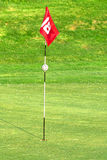 Flag on golf course. 18th flag on the golf course Royalty Free Stock Photography