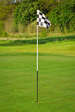 Flag and the golf field Stock Photos