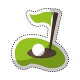 Flag golf hole icon Royalty Free Stock Photography