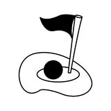 Flag golf hole icon Stock Photography
