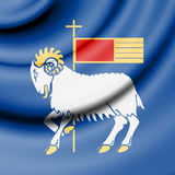 Flag of Gotland, Sweden. Royalty Free Stock Photo