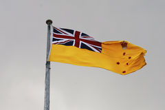 The flag of the Governor of Victoria raised over the belvedere tower of Government House, Melbourne Stock Photos