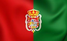 Flag of Granada City, Spain. Stock Images