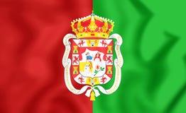 Flag of Granada City, Spain. Royalty Free Stock Photos