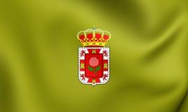 Flag of Granada Province, Spain. Stock Photos
