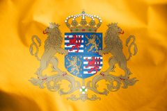 Flag of Grand Duke of Luxembourg. 3d Rendered Flag of Grand Duke of Luxembourg Stock Photo