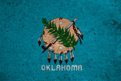 Flag. Graphic american state grunge flag of oklahoma Stock Photography