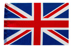 Flag of Great Britain. With folding marks used as background Stock Photo