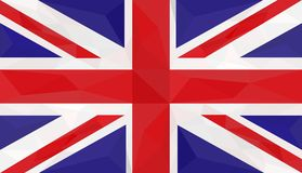 Flag, Great Britain, low poly art Stock Photography
