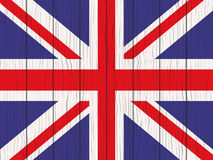 Flag of Great Britain. Painted on a wooden wall Stock Image