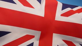 Flag of Great Britain. The flag of the United Kingdom of Great Britain and Northern Ireland. (The Union Flag stock footage