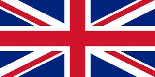 Flag of the Great Britain. Vector illustration EPS10.  royalty free illustration