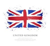 Flag of the Great Britain. Vector illustration. United Kingdom. Flag of the Great Britain. Vector illustration on white background. Brush strokes drawn by hand stock illustration