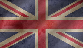 Flag of the Great Britain. Vintage background with flag of Great Britain. Grunge style Stock Image