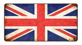 Flag of Great Britain. Vintage metal sign on a white background - Flag of Great Britain Stock Photo