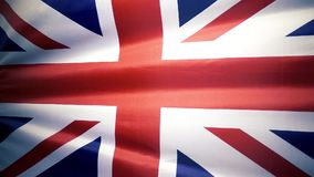 The flag of Great Britain is waving. Slow mo. stock video footage