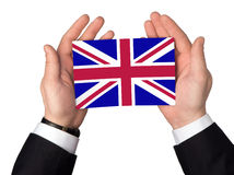 Flag of the Great Britain. On a white background Royalty Free Stock Photos