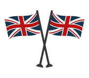 Flag of Great Britain. On white background Royalty Free Stock Photos