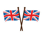 Flag of Great Britain. On white background Stock Photos