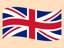 Flag Of The Great Britain. On a white background Royalty Free Stock Photo