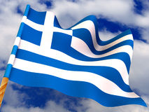 flag greece Arkivfoto