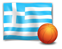 The flag of Greece at the back of a ball Royalty Free Stock Photos