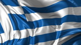 Flag of Greece. Beautiful 3d animation of Greece flag in loop mode