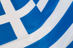 Flag of Greece. Close up of Greek Flag royalty free stock photo