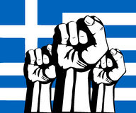 Flag of Greece. Crisis and protests in Greece Royalty Free Stock Image