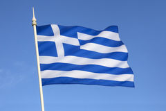 Flag of Greece - Europe. The flag of Greece was officially adopted by the First National Assembly at Epidaurus on 13 January 1822 Stock Images