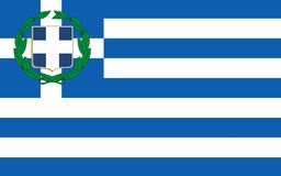 Flag of Greece. Officially the Hellenic Republic also known since ancient times as Hellas is a country located in southeastern Europe royalty free stock images