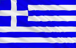 Flag of Greece. Officially the Hellenic Republic also known since ancient times as Hellas is a country located in southeastern Europe stock photo