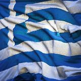 Flag of Greece, fluttering Stock Image