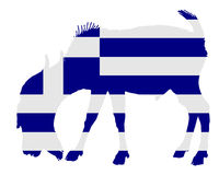Flag of Greece with goat Royalty Free Stock Photos