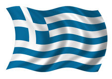 flag greece Hellenic Republic Royaltyfri Fotografi