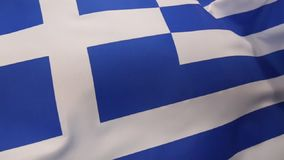 Flag of Greece. The national flag of Greece. It was officially adopted by the First National Assembly at Epidaurus on 13 January 1822 stock footage
