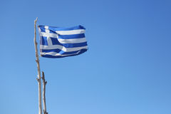 Flag of Greece. The flag of Greece officially recognized by Greece as one of its national symbols, is based on nine equal horizontal stripes of blue alternating Stock Images