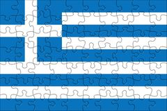 Flag of  Greece puzzle Stock Photos