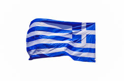 Flag of Greece. On white background Royalty Free Stock Images
