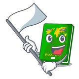 With flag green passport on the mascot table. Vector illustration stock illustration