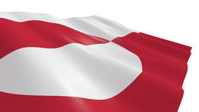 Flag of greenland Royalty Free Stock Image
