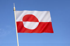 Flag of Greenland Royalty Free Stock Photos