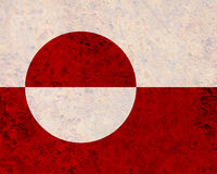 Flag of Greenland on rusty metal Stock Images
