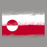 Flag of Greenland Stock Photography