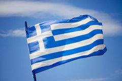 flag greken Arkivfoton
