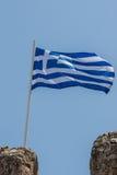 flag greken Royaltyfria Bilder